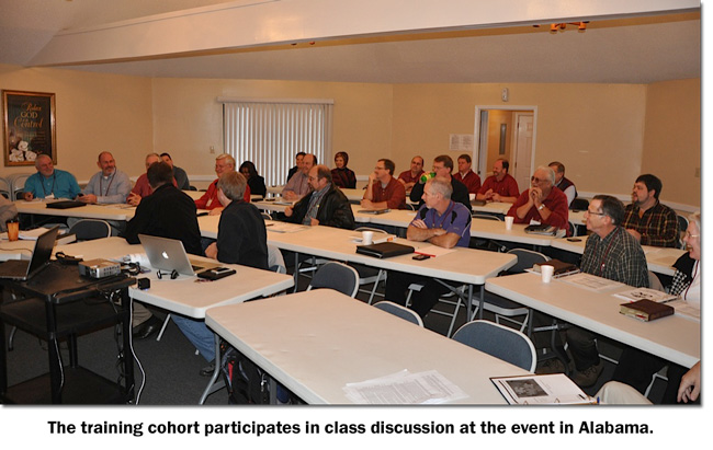 Class discussion at the Alabama Nazarene church planting training event in January 2013