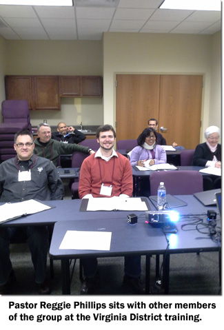 Reggie Phillips and others at the Virginia District of the Nazarene church planting training