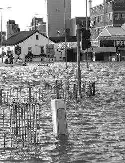 Town under water